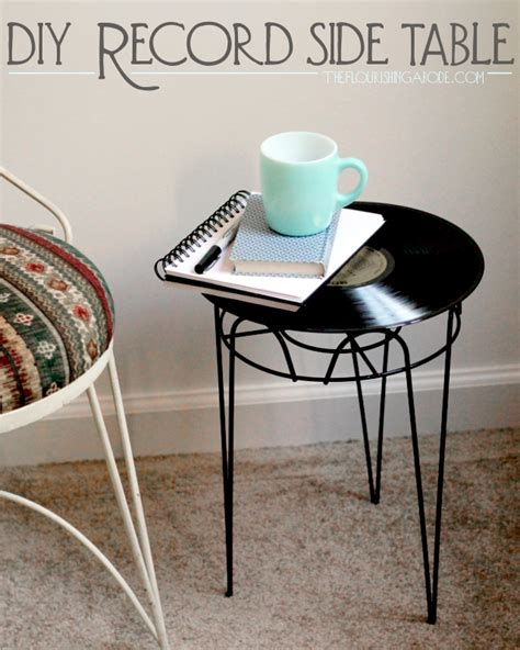 diy upcycled furniture upcycled furniture project diy side table from vintage record