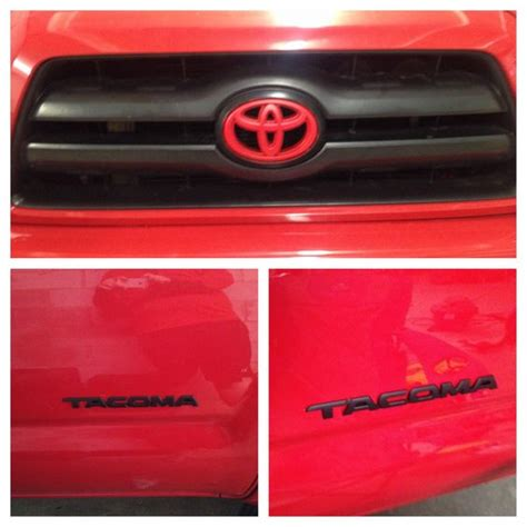 Toyota Tacoma Emblems My 2007 Toyota Tacoma Trd Sport With Plastidip Emblems