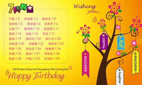 Birthday Cards For Senior Colleague 公司员工生日快乐祝福墙psd素材