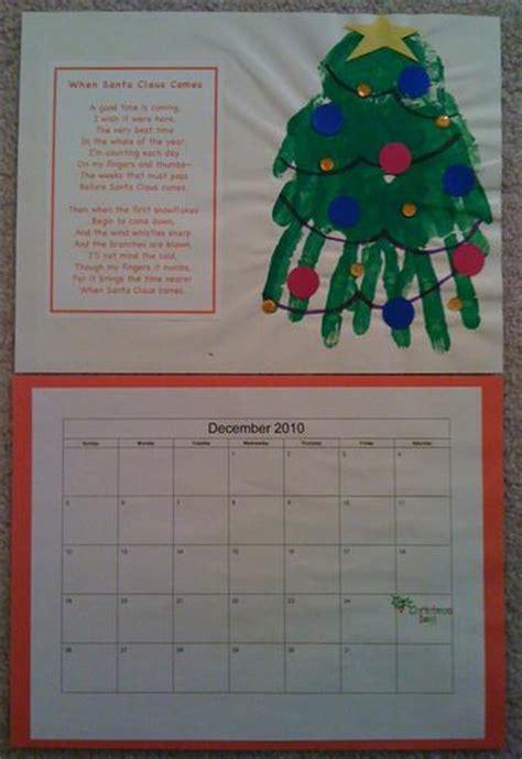 hand print calendar december