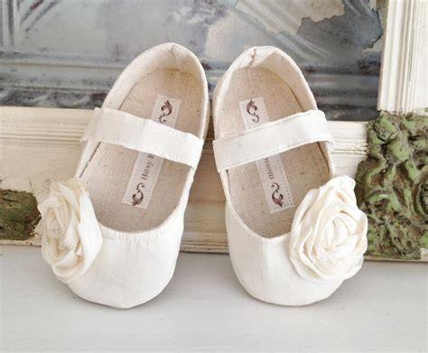 toddler flower shoes ivory baby shoes toddler shoes infant shoes by