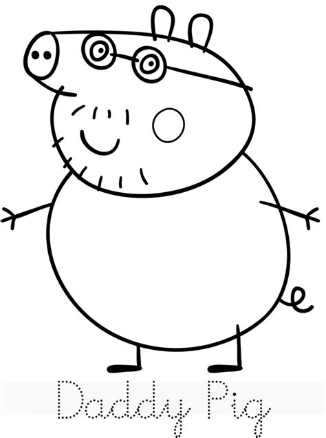 peppa pig characters coloring pages peppa pig colouring pages for kids