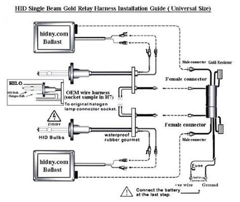 hid headlight diagram capacitor wiring for hid mifinder co