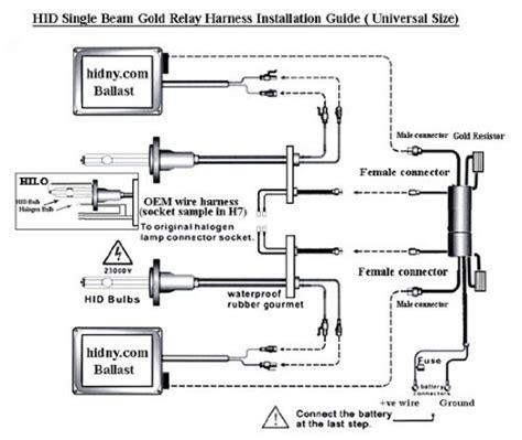 hid capacitor wiring diagram hid headlight diagram capacitor wiring for hid mifinder co