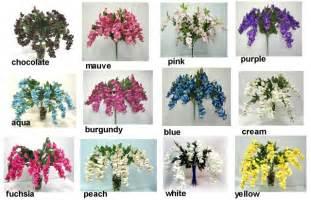 Purple Vase Fillers Pink Wisteria Hanging Flowers Silk Wedding Flowers Ebay