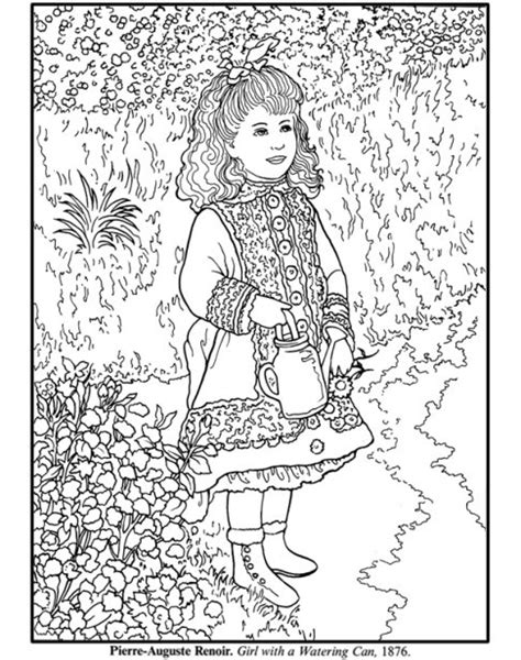 artist of the month renoir renoir coloring pages