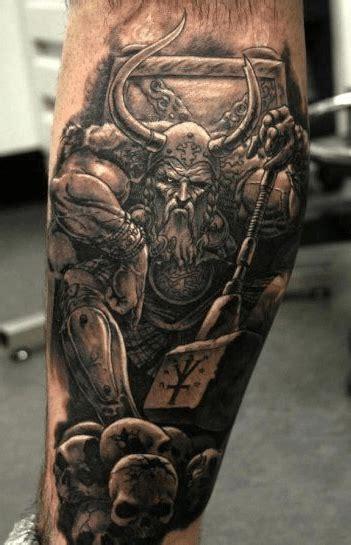 tattoo 3d viking top 25 calf tattoos for men and women