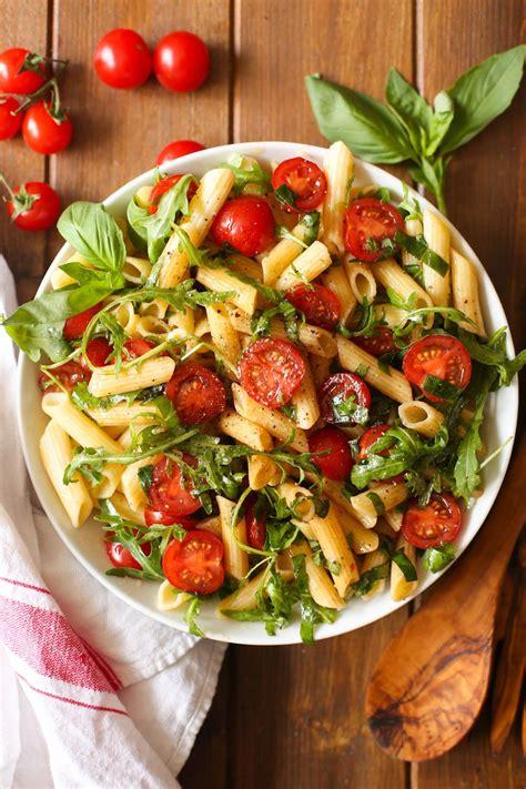 Outside Kitchen Ideas tomato amp arugula balsamic pasta salad a saucy kitchen