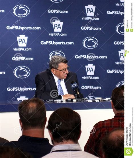 penn state couch penn state coach joe paterno editorial stock image image