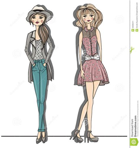 fashion illustration with background fashion illustration vector illustrat stock vector illustration of
