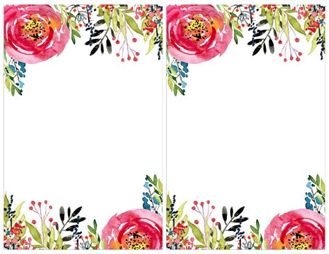 Card Flower Template by Floral Invitation Template Free Printable