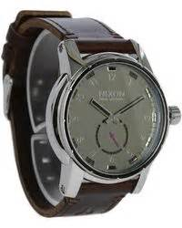 Jam Nixon Patriot Leather Black Original 100 nixon watches shop s nixon watches lyst