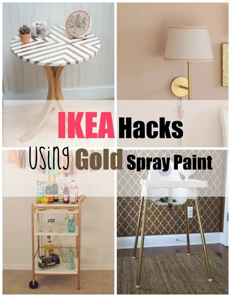 hack and paint ikea hacks using gold spray paint gold spray paint gold spray and ikea hack
