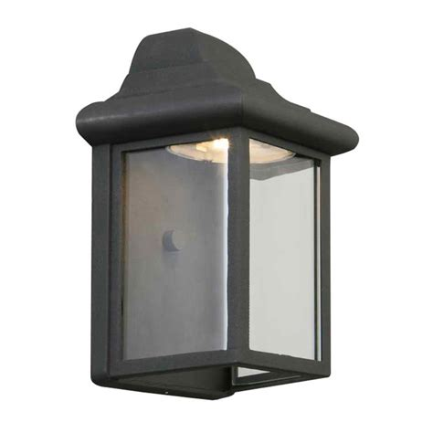 design house wall sconce design house montrose 12 watt black outdoor integrated led