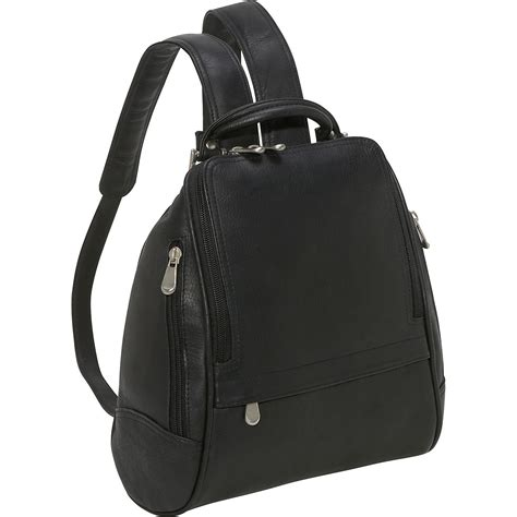 leather backpack purses le donne leather u zip mid size backpack purse ebags