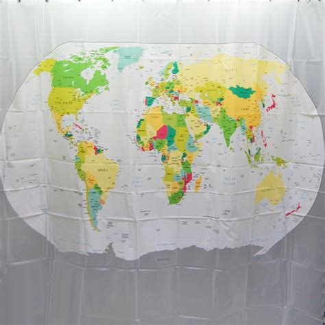 world map fabric shower curtain world map shower curtain eva shower curtain indoor