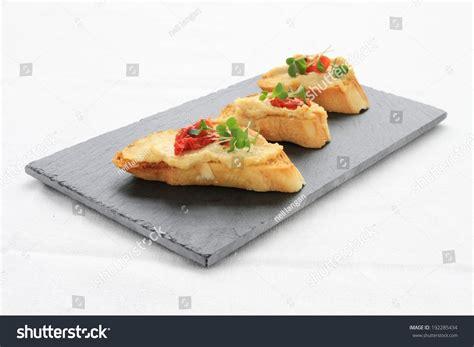 toast canapes hummus on toast canapes stock photo 192285434