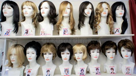 pretty styles for mannequin fashion mannequins in wigs editorial stock image image