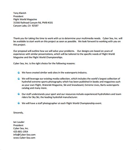business closure letter to government sle sle standard business letter format 7 free documents