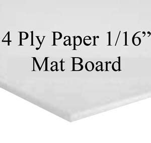 How Thick Is 4 Ply Mat Board by Crescent Berkshire Mat Backing Board