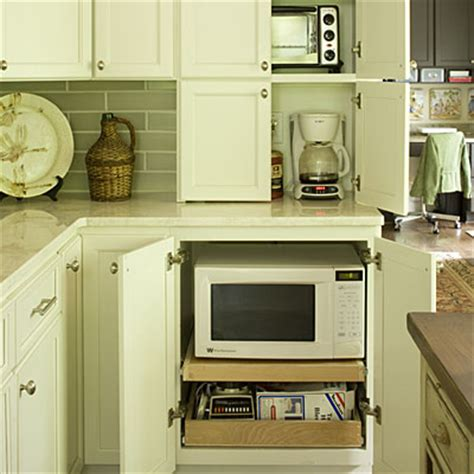 kitchen appliance cabinet storage appliance garage organize your kitchen southern living