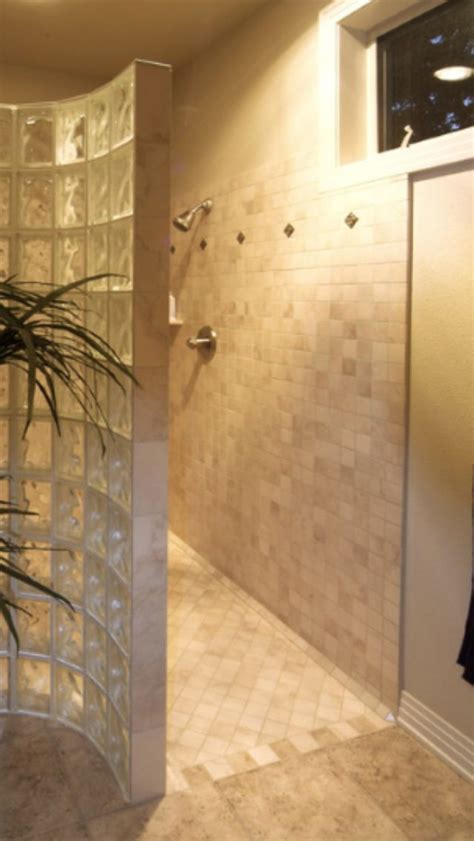 Walk In Shower With No Door Walk In No Door Shower Bathroom Ideas Pinterest