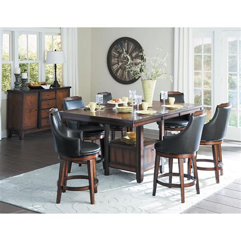 dining room groups homelegance bayshore transitional counter height dining
