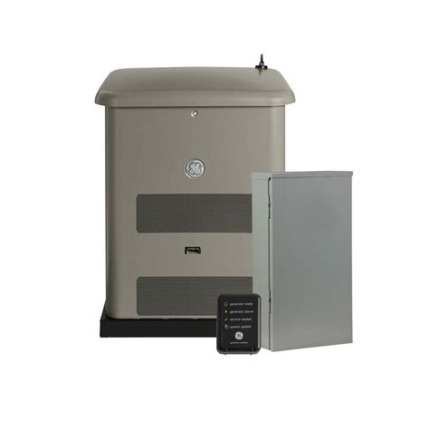 ge 8 000 watt air cooled home generator system with 50