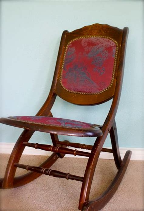 Antique Folding Rocking Chair by Antique Folding Rocking Chair Sewing Chair