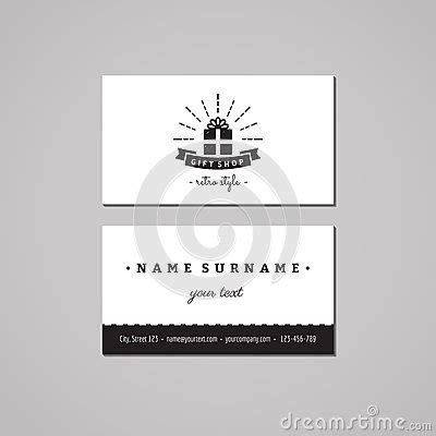 logo st for boxes gift shop and souvenirs business card design concept gift