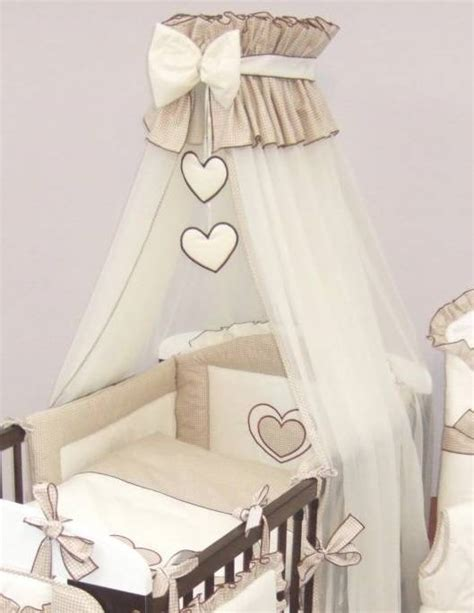 Cot Bed Canopy Crown Cot Canopy Mosquito Net Large Fits Baby Cot Bed Designed With Bow Hearts Ebay