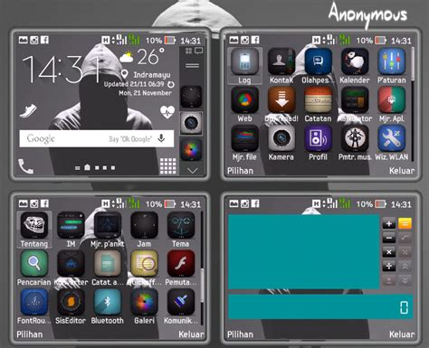 themes nokia e72 full icon theme anonymous by nengchy cs gudangskins