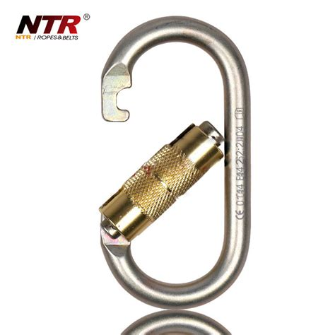 Ntr Oval Release Carabiner Safety Lock ntr oval release carabiner automatic safety lock silver jakartanotebook