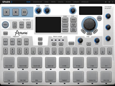 free drum pattern vst review spark 2 drum synthesizer vst plugin by arturia
