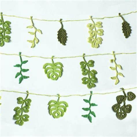 free crochet pattern leaf garland 52 handmade crochet garland free pattern diy to make