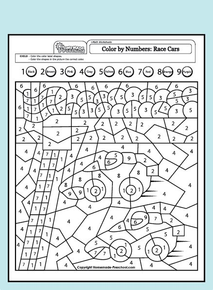 color by numbers coloring book for race cars mens color by numbers race car coloring book color by numbers books for volume 2 books and interactive preschool worksheets