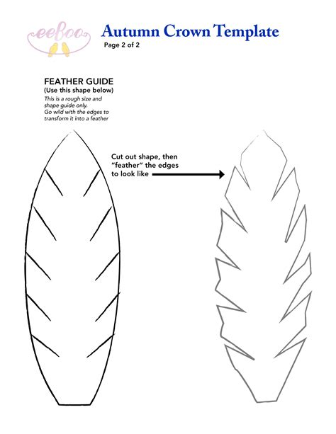 felt pattern cutter felt feather template for our fantastic eeboo fall crown