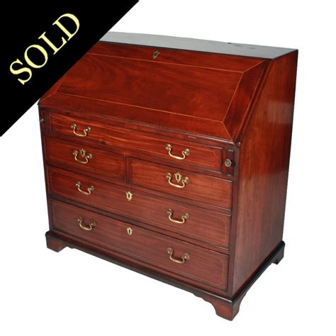 georges bureau george iii mahogany bureau from graham smith antiques uk
