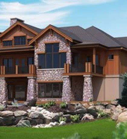 hillside house plans with walkout basement unique with