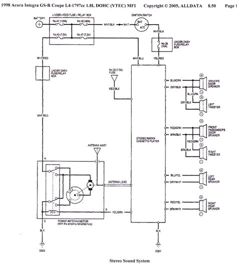 1998 honda civic headlight wiring diagram 41 wiring