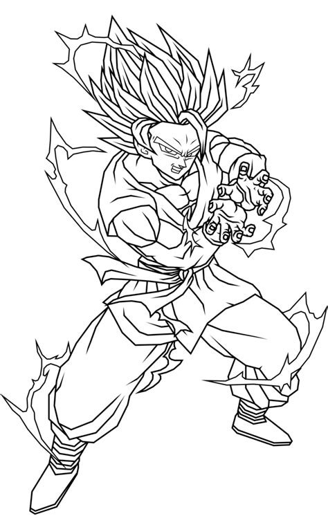 Imagenes Para Colorear De Dragon Ball Z | imagenes sin color de dragon ball z imagenes dragon ball