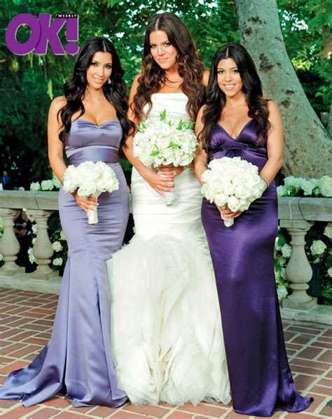 how to get khloe kardashian wedding hair kourtney khloe kim kardashian wedding pic the