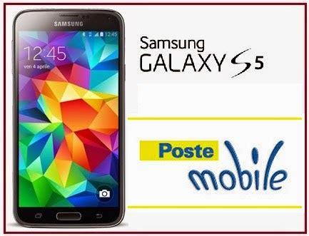 poste mobile operatore prezzo galaxy s5 con postemobile e condizioni di