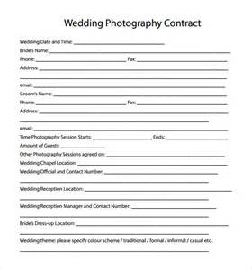 free sle contract templates wedding photography contract template 12 free