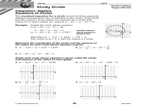 Equations Of Circles Worksheet by Equations Of Circles Worksheet Deployday
