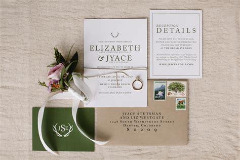 Wedding Invitations Mountains by Colorado Mountain Wedding Invitation Kailey