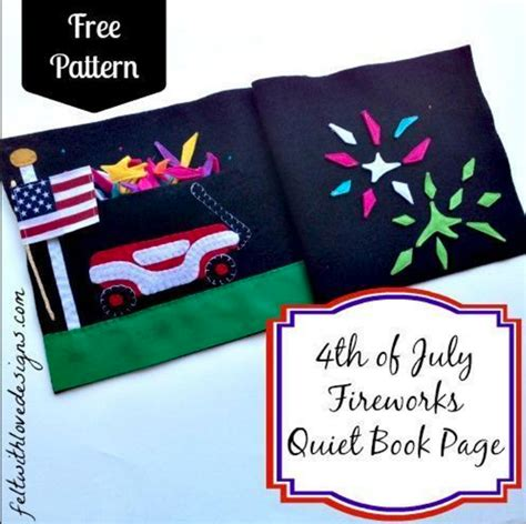 quiet book quilt pattern free quilt pattern 4th of july quiet book page i sew free