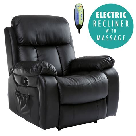 electric armchair chester electric heated leather massage recliner chair