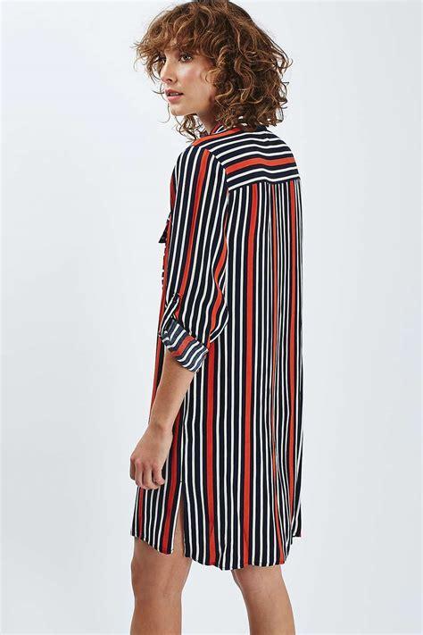 Striped Oversized Shirt oversized stripe shirt dress topshop