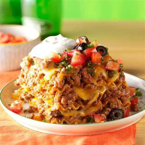 mexican dinner ideas for a dinner mexican lasagna recipe taste of home